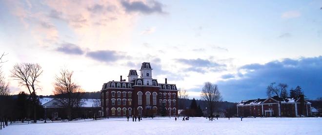 VCFA Chapel Hall in Winter