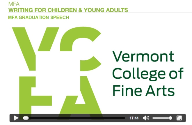 VCFA Graduation Speech