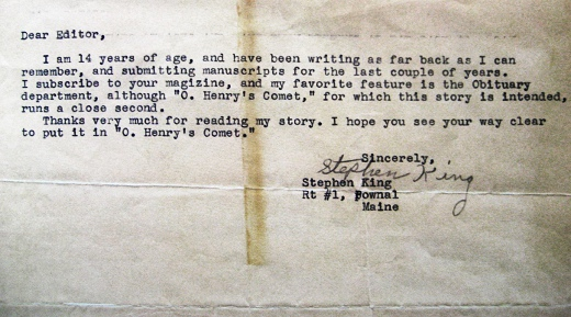 Stephen King Query Letter