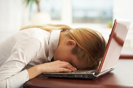 Asleep on laptop