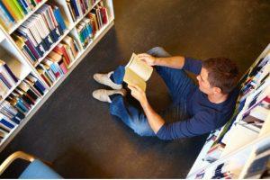 teen boy reading