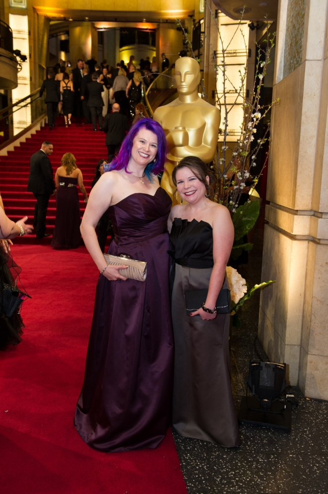 Ingrid and Heather at the Oscars