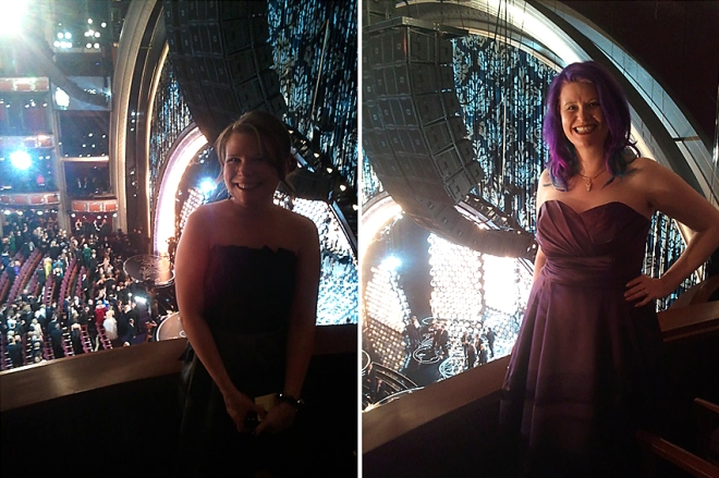 Heather and Ingrid at the Oscars!