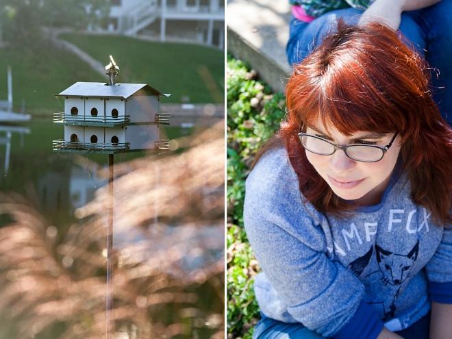 Rachel-and-bird-house