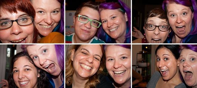 Set-of-six-selfies
