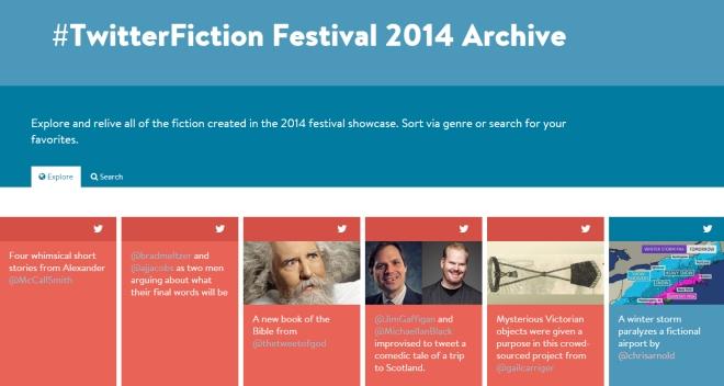 Twitter fiction festival archive
